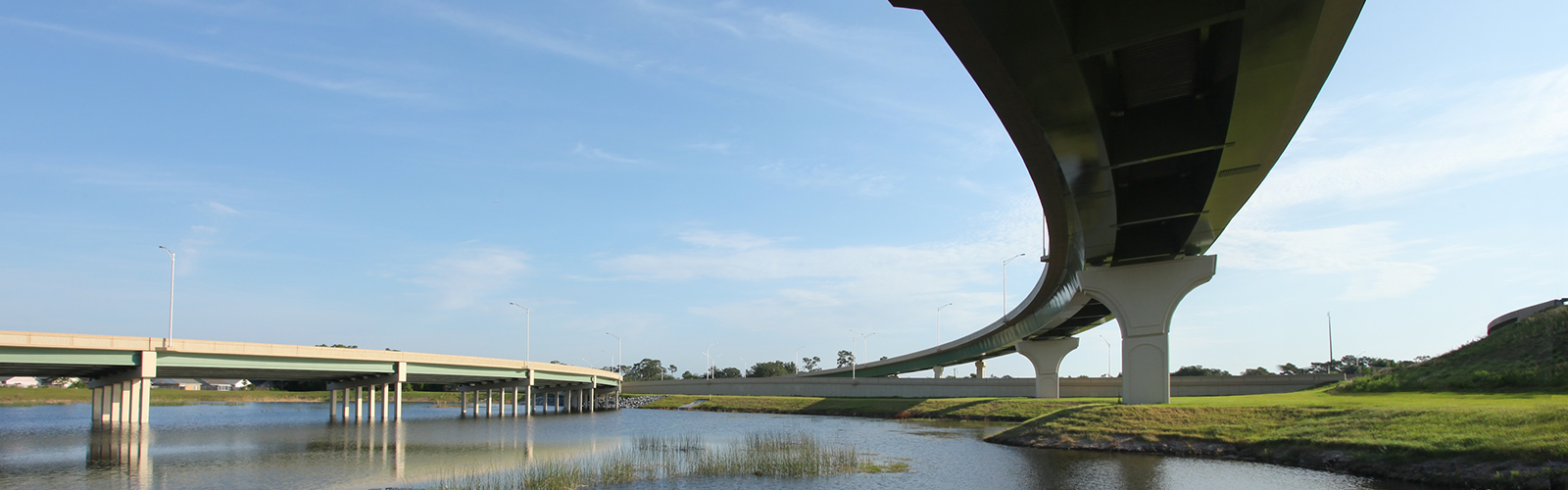 Central Florida Expressway toll road 414 bridges over lakes