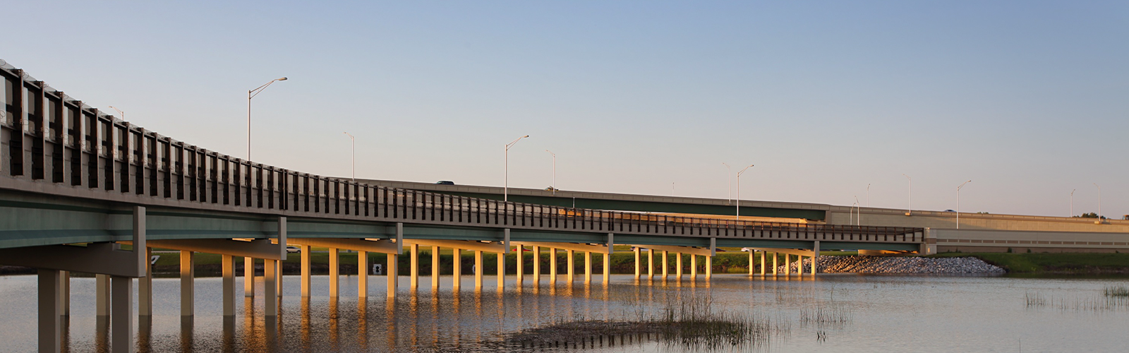 Central Florida Expressway toll road 417 bridges over lakes