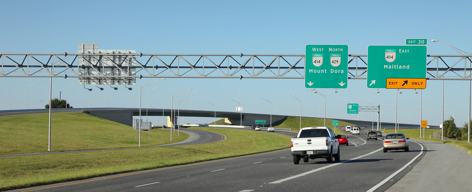 Central Florida Expressway toll road 429 at toll road 414 interchange