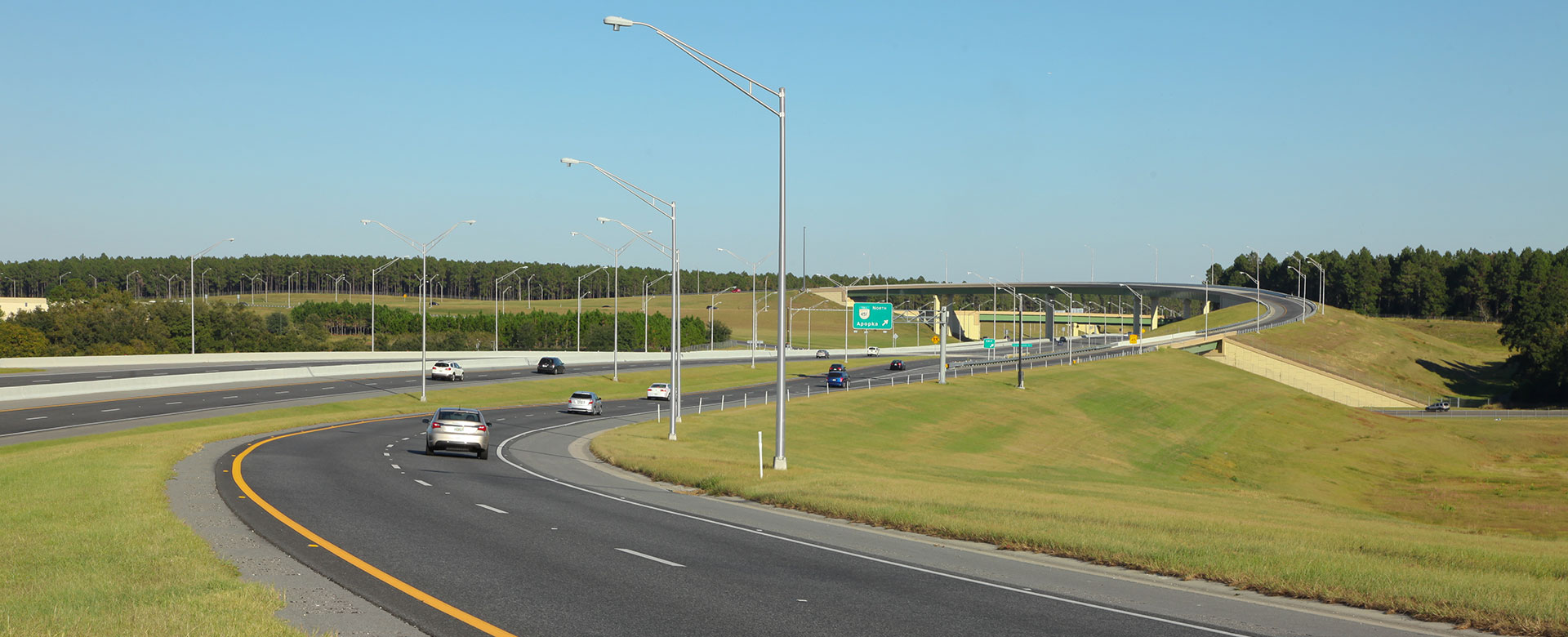 Central Florida Expressway toll road 429 at toll road 414 exchange to Apopka
