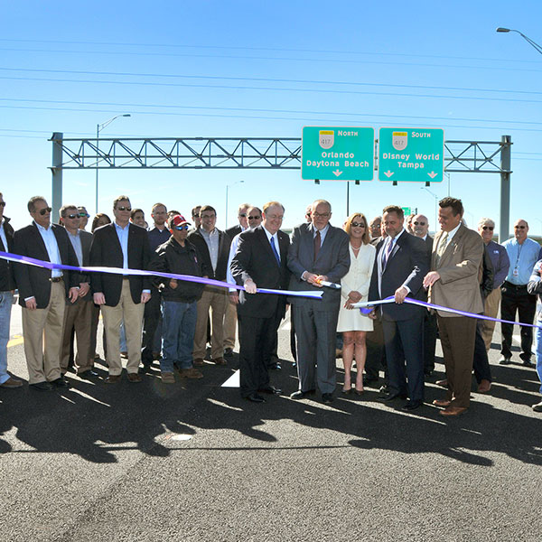 Central Florida Expressway toll road 417 ribbon cutting ceremony