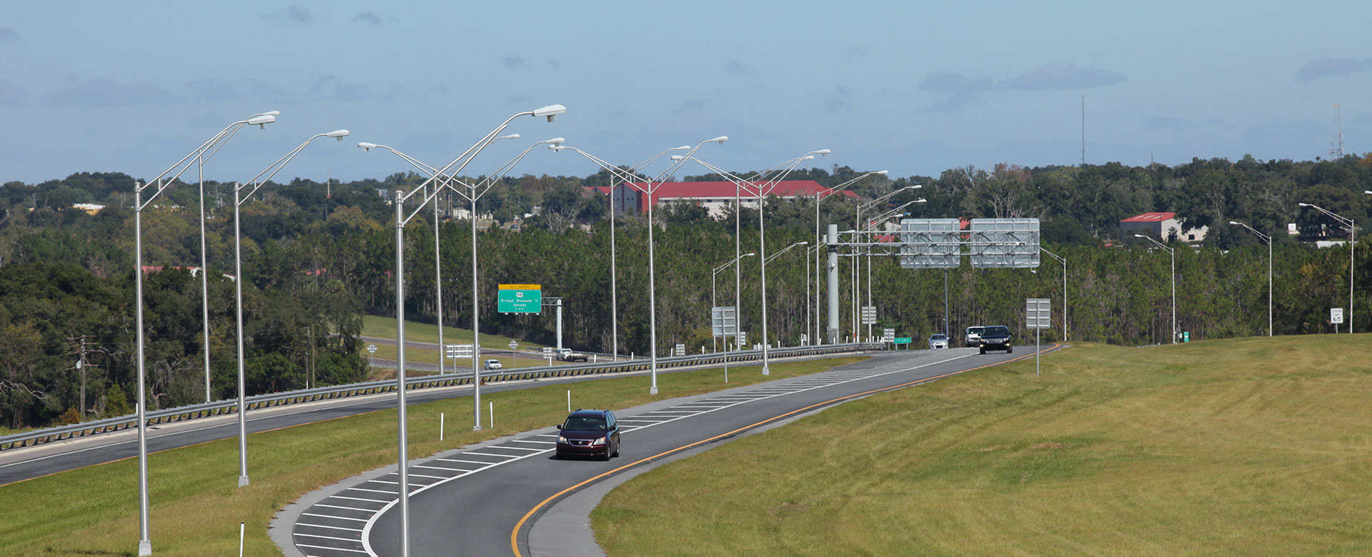 Light traffic on Central Florida Expressway toll road 451
