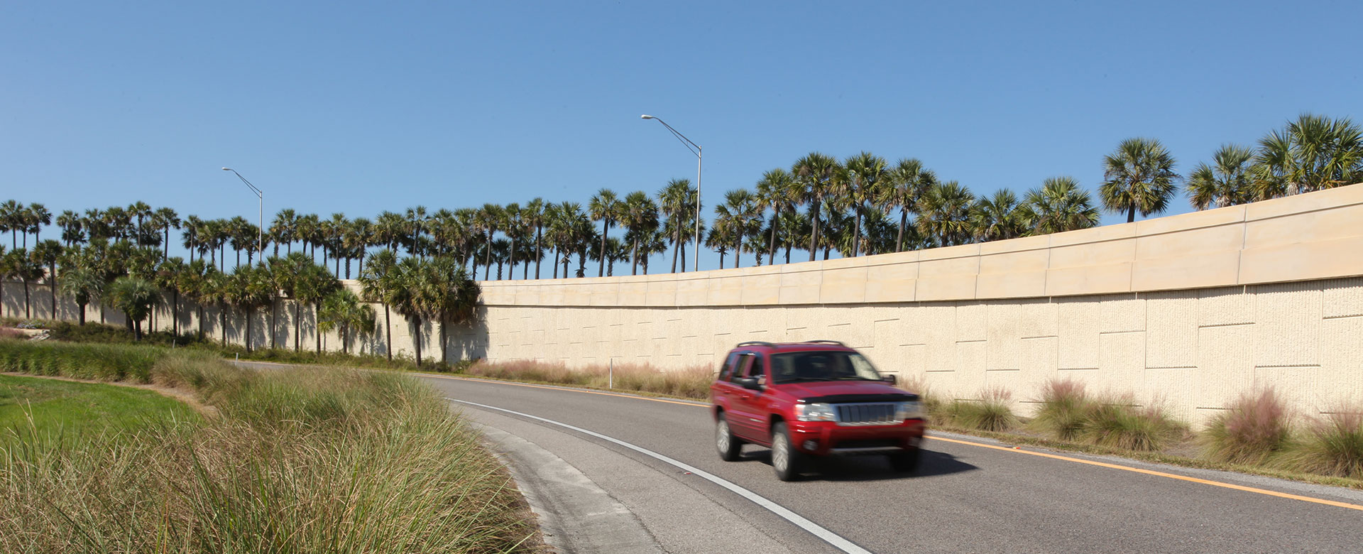 SUV on entry ramp to Central Florida Expressway