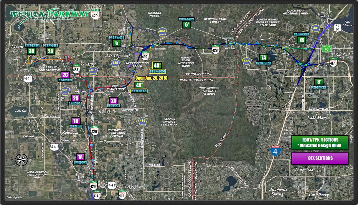 Wekiva Parkway map