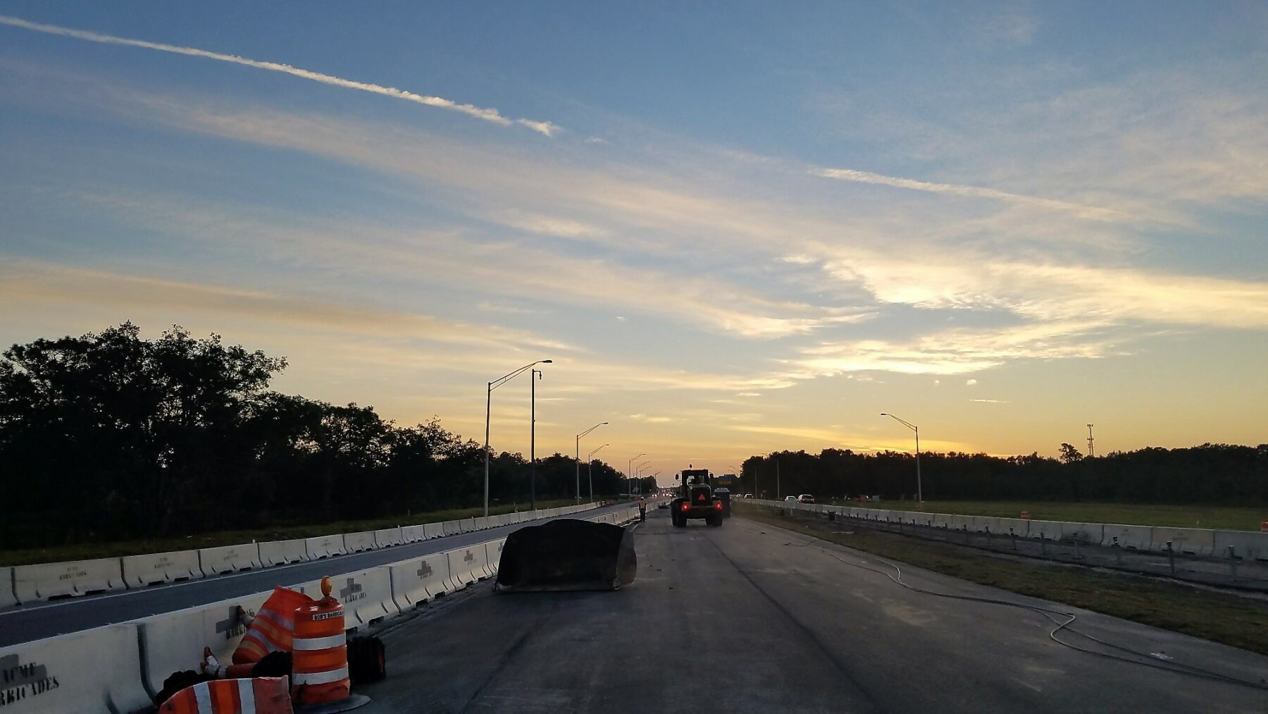 Construction of State Road 528 Econlockhatchee during bridge replacement project