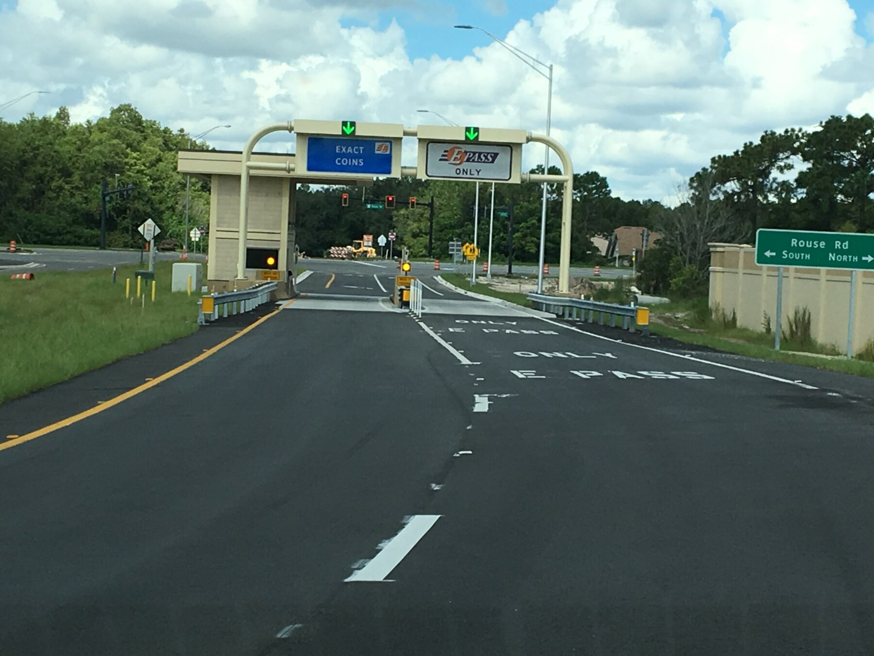 State Road 408 exit ramp toll plaza at Rouse Road