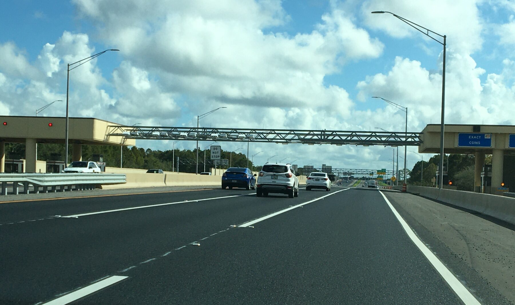 State Road 408 toll plaza near Rouse Road