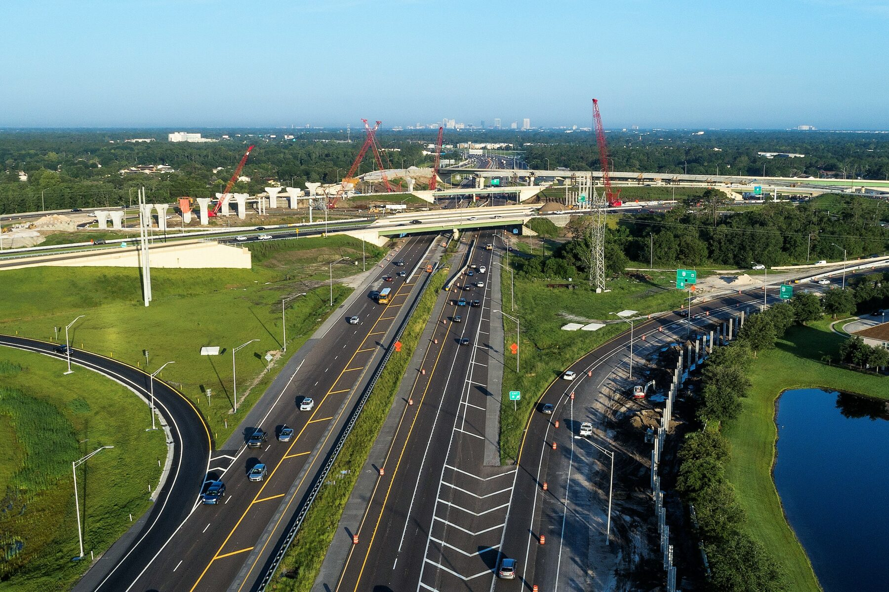 ariel view of State Road 417/State Road 408 Interchange