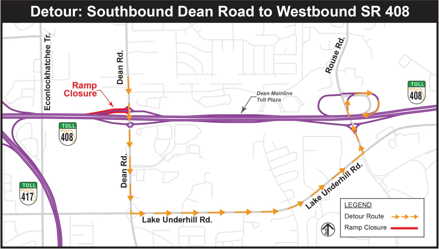 CFX State Road 408 widening to cause three on- and off-ramp