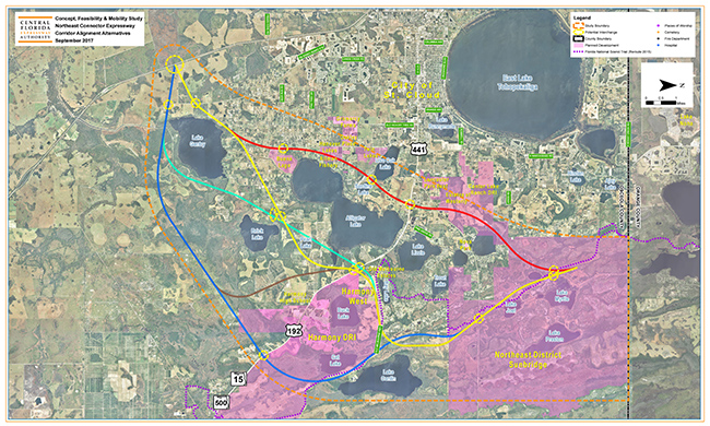 Central Florida Expressway Authority Concept, Feasibility & Mobility Study Map