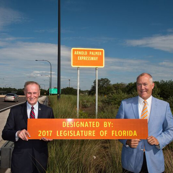 Arnold Palmer Expressway Designated by 2017 Legislature of Florida