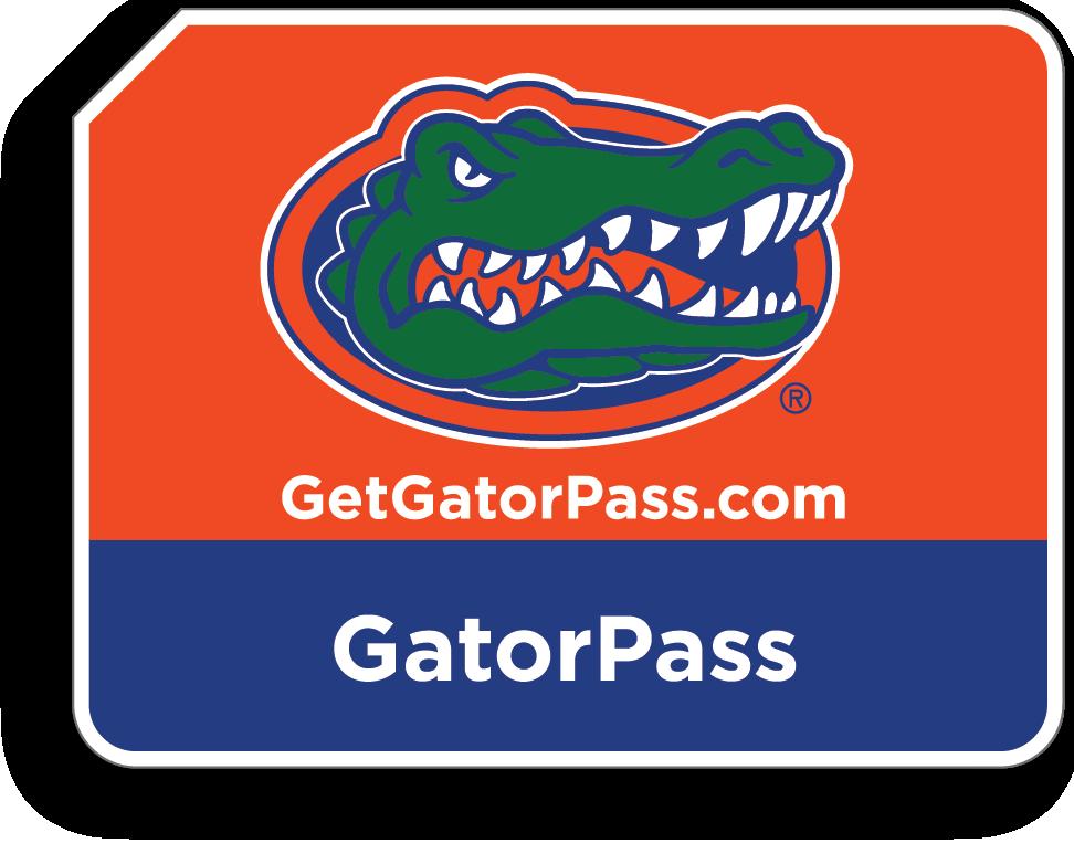 GatorPass sticker. GetGatorPass.com