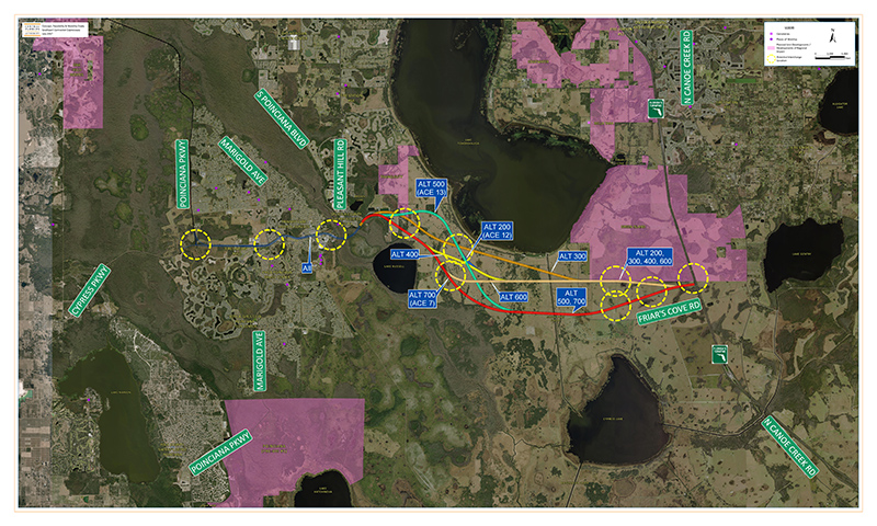 Central Florida Expressway Authority Southport Connector Expressway Map