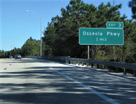 Exit 3 to Osceola Parkway