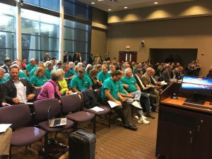 Community members attending the Central Florida Expressway Authority Board Meeting