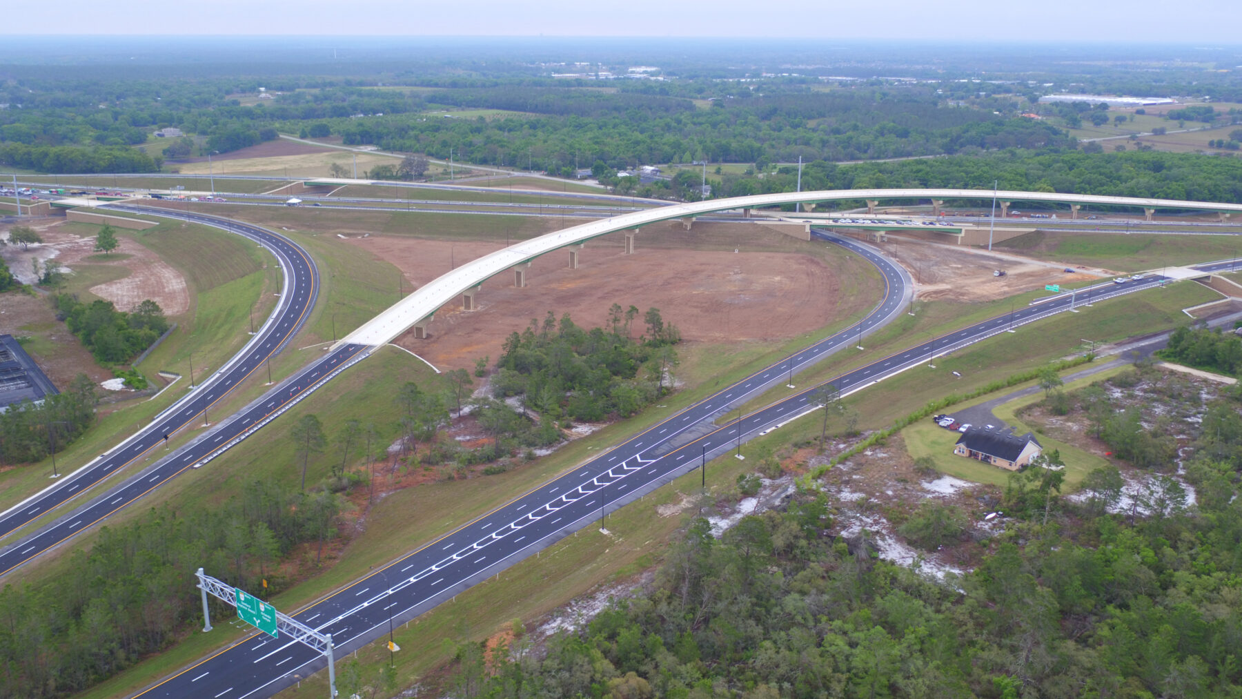 Broad overview of new sections of the Wekiva Parkway