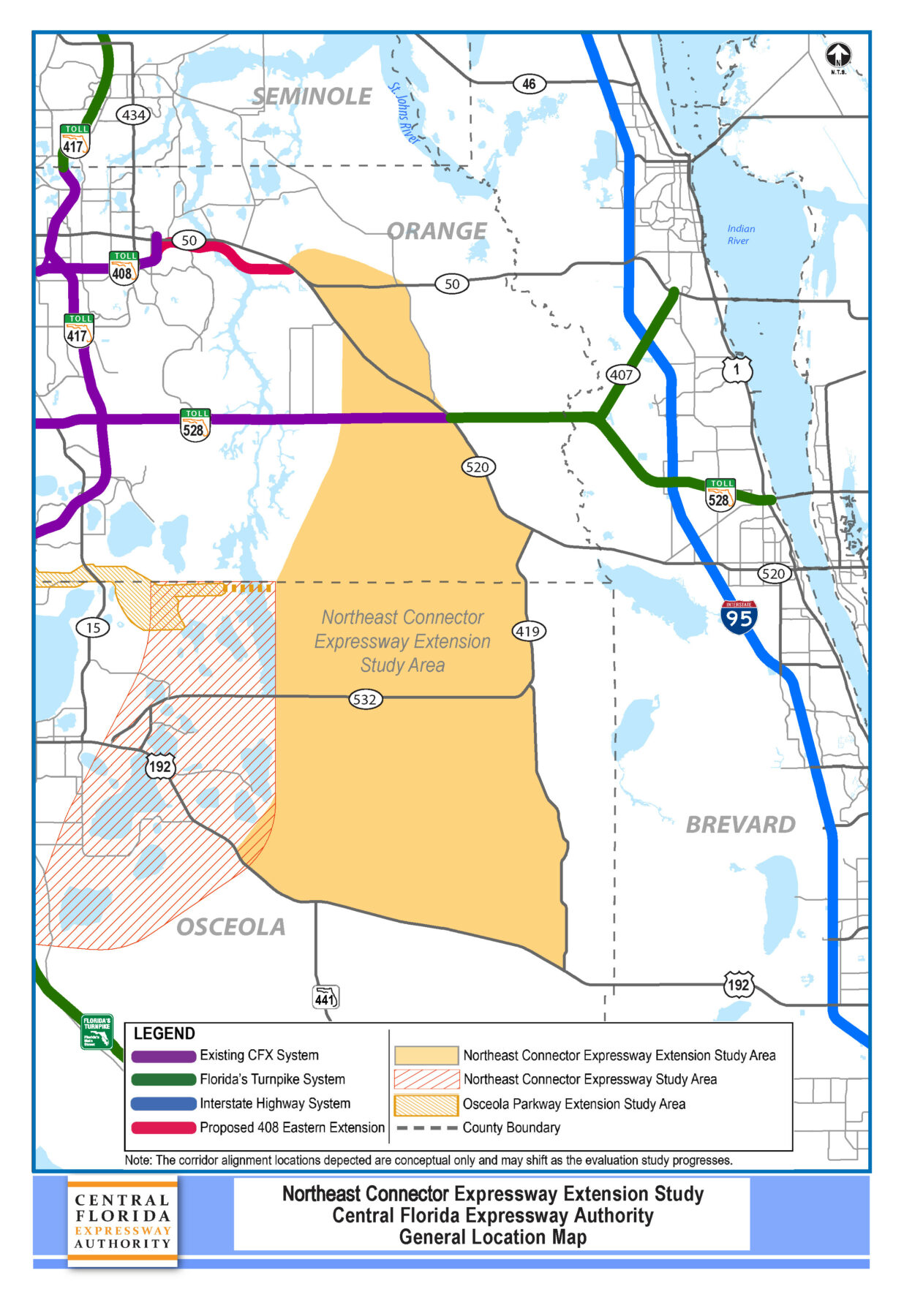 Northeast Connector Expressway Extension   Central Florida ... on