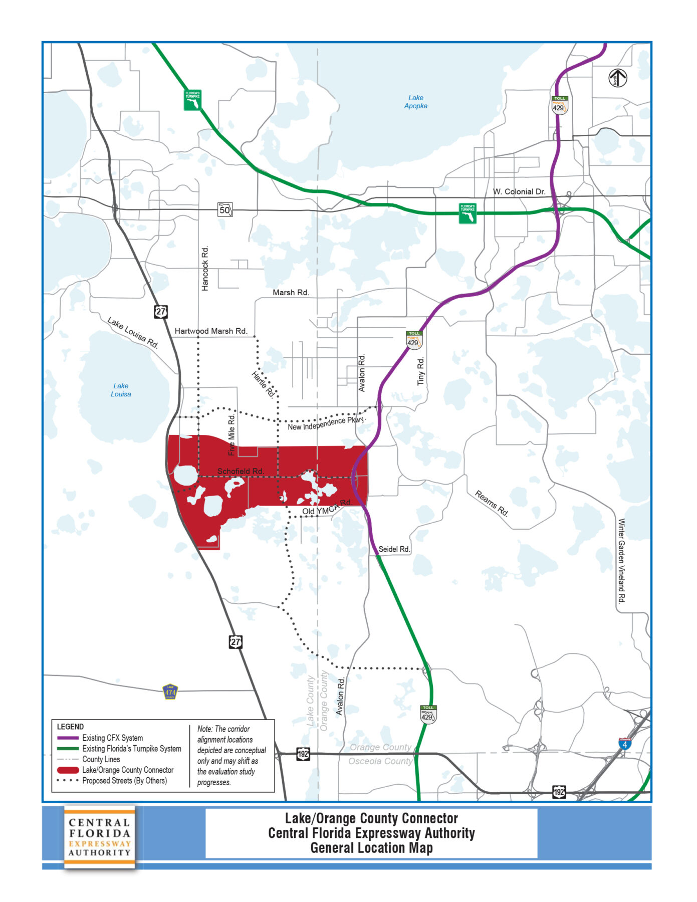 Pd E Study Lake Orange County Connector Central Florida