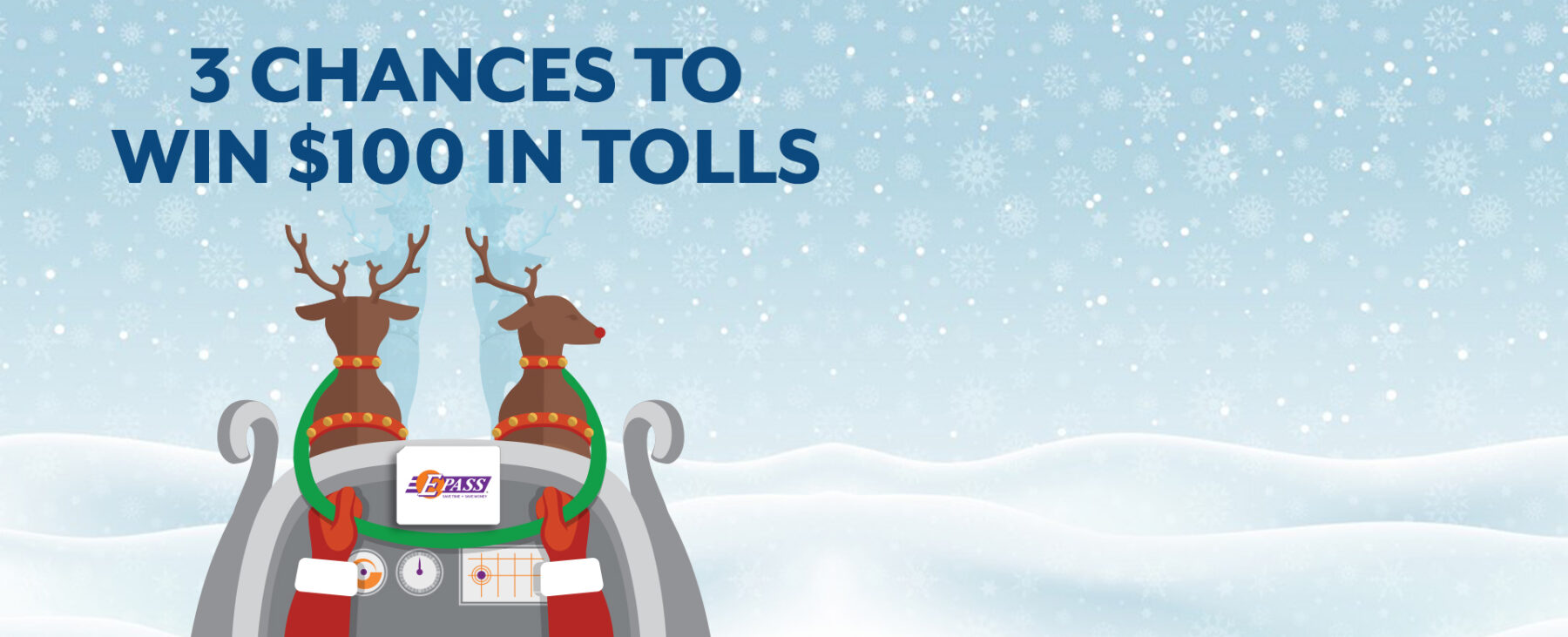 3 chances to win $100 in tolls