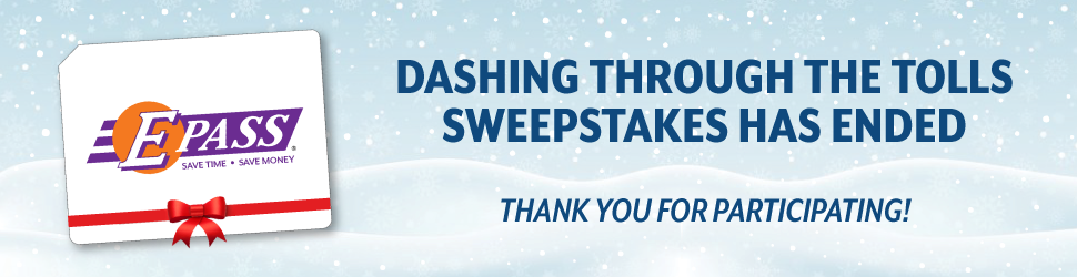 Dashing Through the Tolls Sweepstakes has ended. Thank you for participating