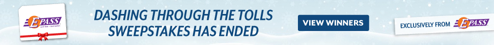 Dashing Through the Tolls Sweepstakes has ended
