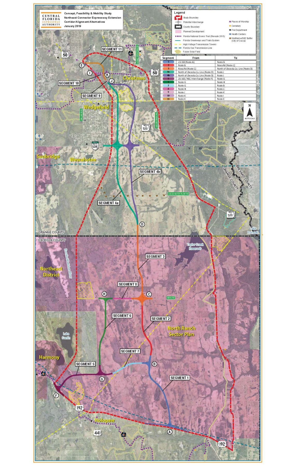 Central Florida Expressway Authority Northeast Connector Expressway Extension Corridor Alignment Alternatives January 2019