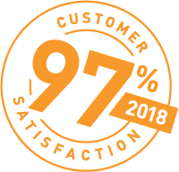 97% Customer Satisfaction Rating for 2018