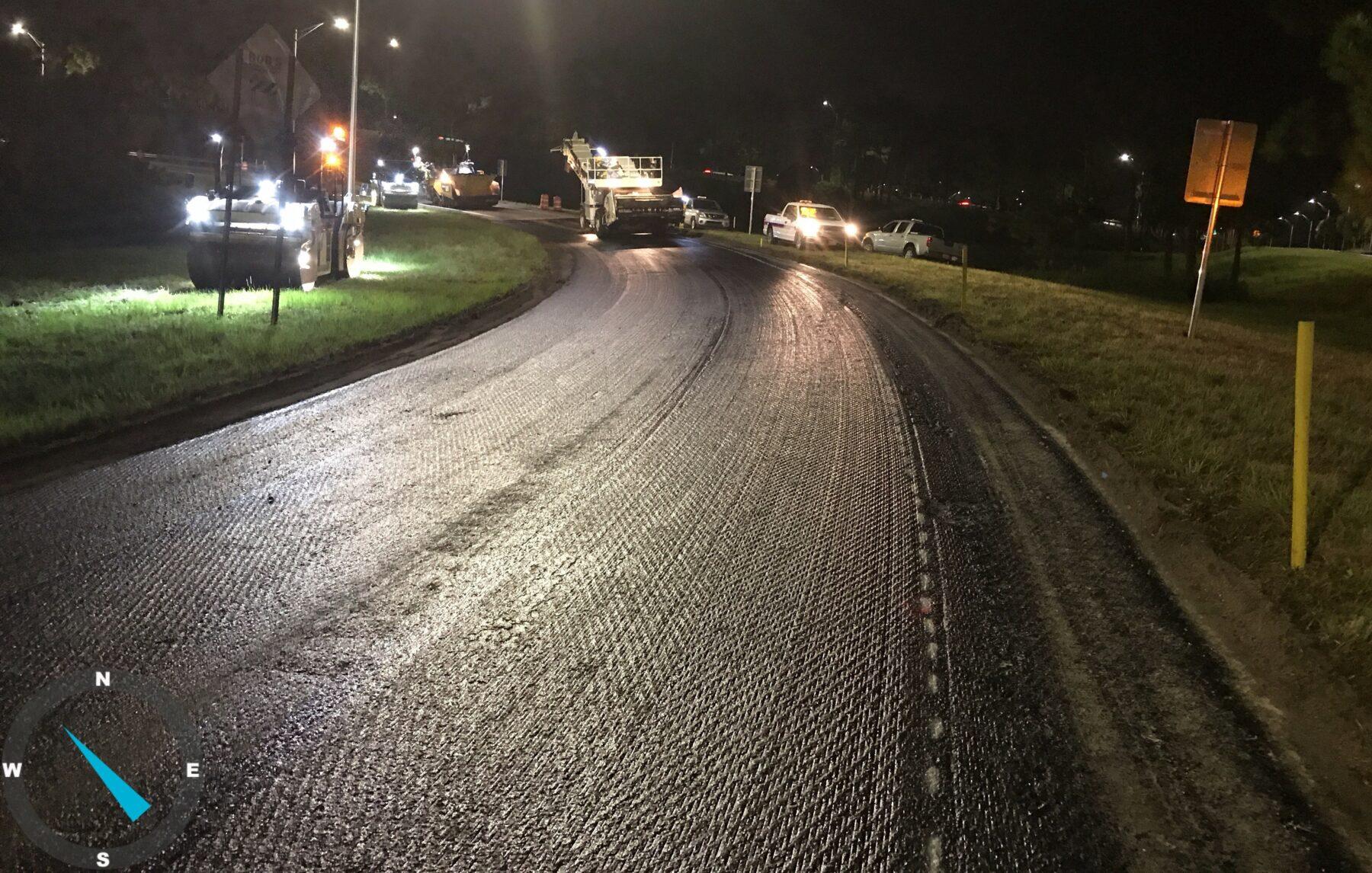 Crews resurfacing State Road 528 over night