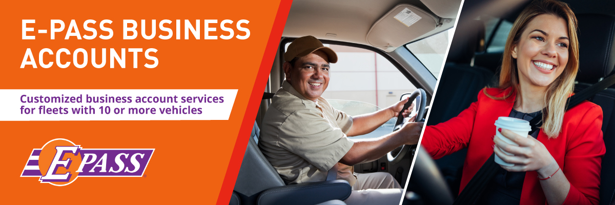 E-PASS Business Accounts: Customized business account services for fleets with 10 or more vehicles