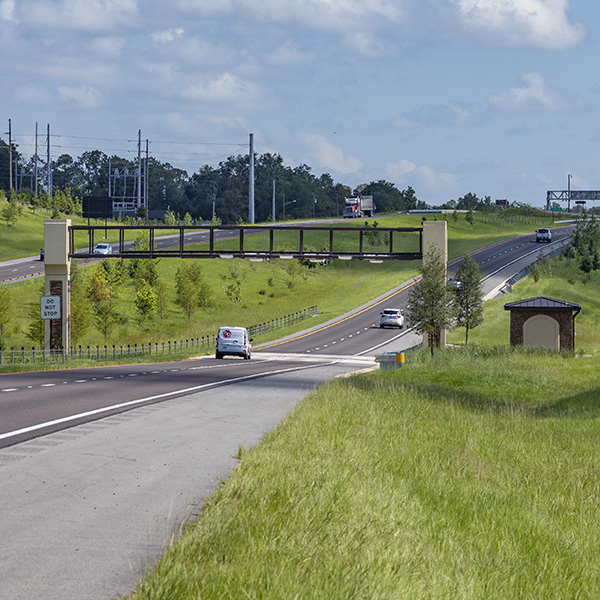 Light traffic on Central Florida Expressway Authority Wekiva Expressway