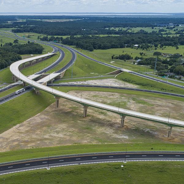 Ariel view of Central Florida Wekiva Expressway