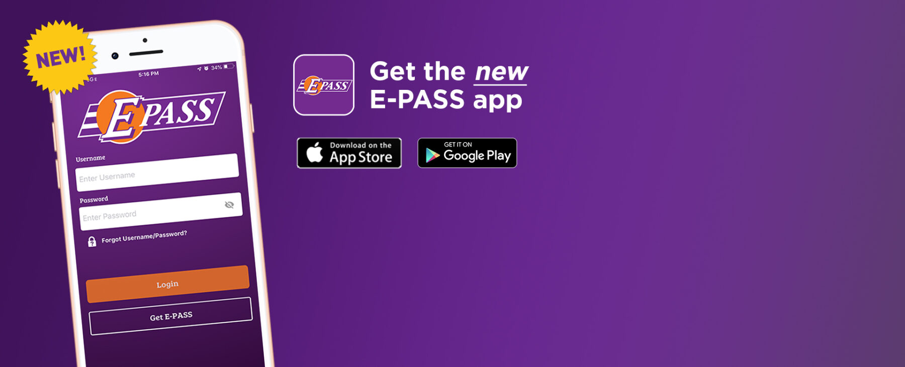 Get the new E-PASS app