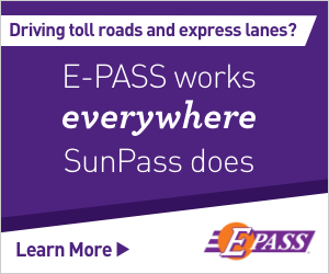 Driving toll roads and express lanes? E-PASS works everywhere SunPass does. Learn More
