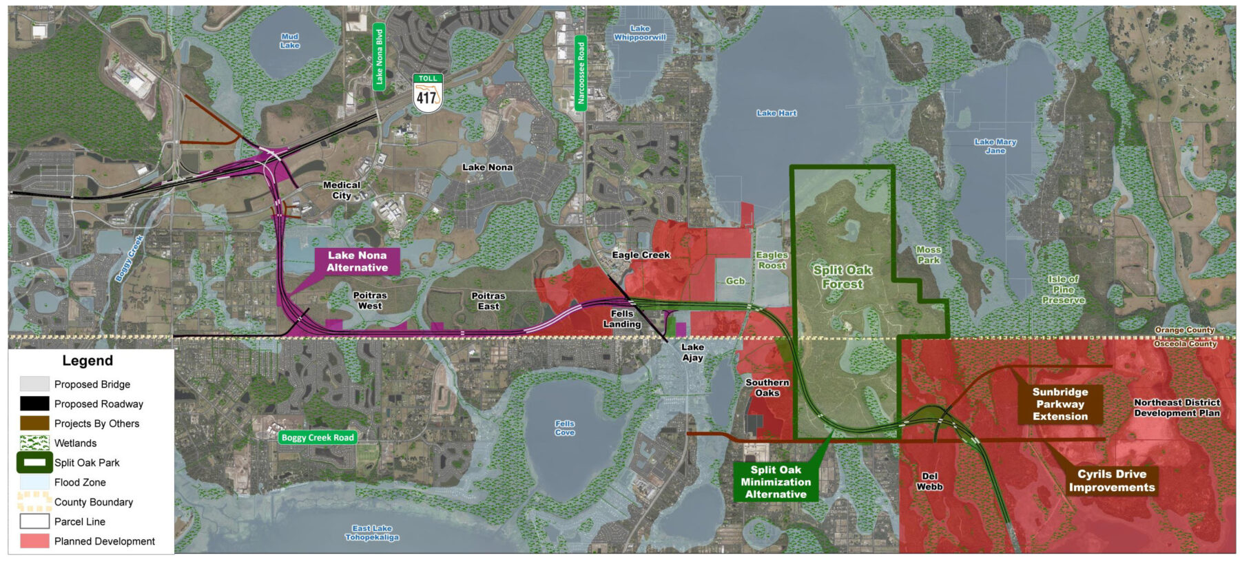 Osceola County Expressway Authority Recommended Preferred Alternative Map