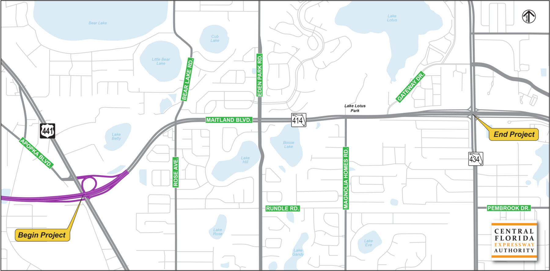 State Road 414 Project Map